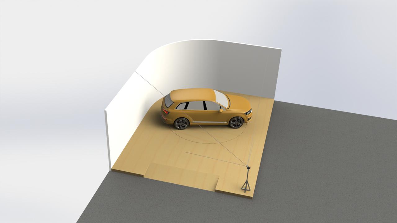 Photo corner concept L-shape
